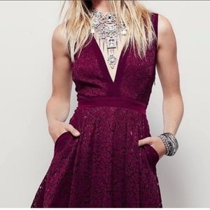 Free People Lovely in Lace cocktail dress